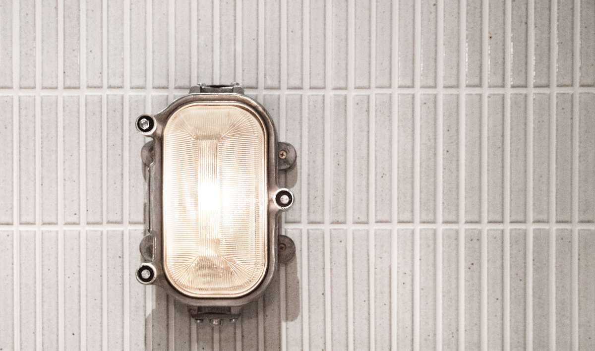 Made-to-order ceramic tiles from Japan and bold industrial lighting salvaged off ships