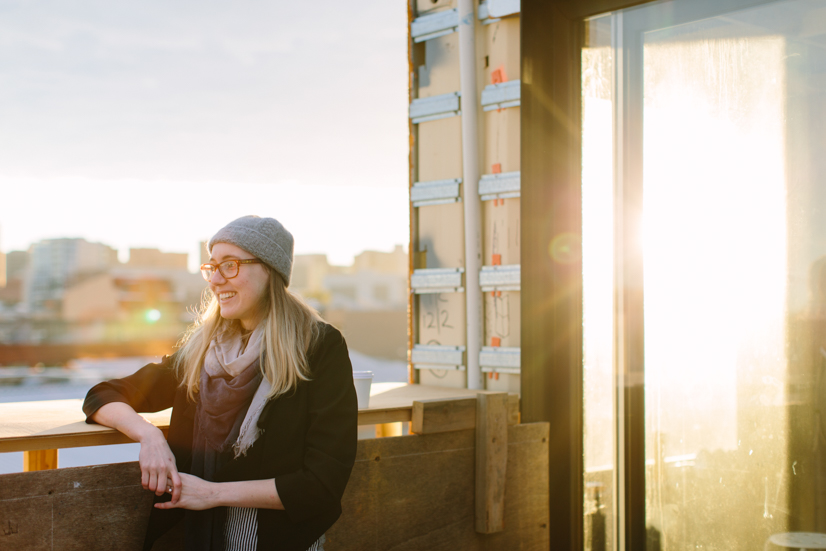 Mia Alexander and her four-storey shipping container home in the CBD